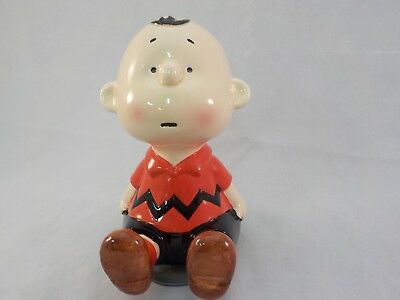 Vintage Schmid Ceramic Charlie Brown Peanuts Music Box Made in Japan