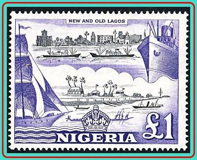 NIGERIA 1953 QEII key VALUE-HARBOUR SC#91 MNH CV$32.50 SHIPS
