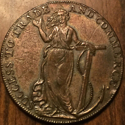 1794 Uk Gb Great Britain Braintree And Bocking Essex Halfpenny Token