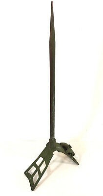 "20"" Vintage SOLID COPPER LIGHTNING ROD & STAND from an old barn"