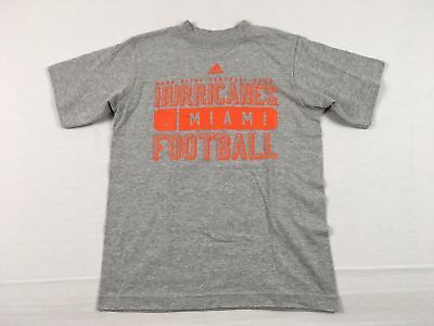 NEW adidas Miami Hurricanes - Gray Cotton Short Sleeve Shirt (Multiple Sizes)