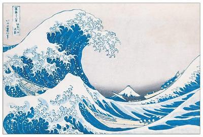 Artopweb EC40050 Pannello Decorativo Hokusai-the Great Wave of Kanagawa Legno Mu