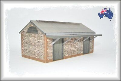 HO Scale Australian IRON GOODS SHED 40' x 20' Gable Roof GS2