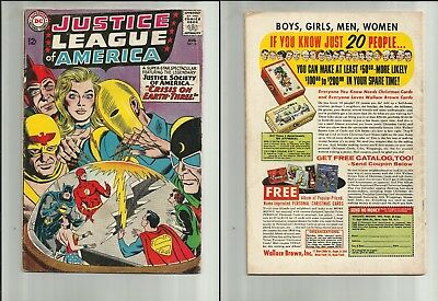 Justice League of America #29 Good 1st SA Star Man Crime Syndicate 1960 1964