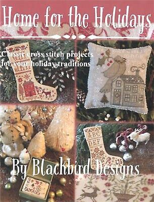 Home For The Holidays Cross Stitch Booklet-40 Pgs--Blackbird Designs