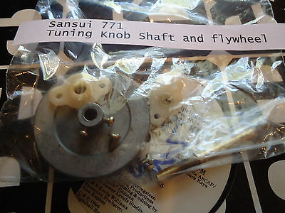Sansui 771 Stereo Receiver Parting Out Tuning Flywheel, shaft and parts