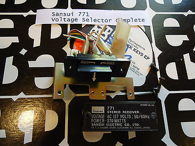 Sansui 771 Stereo Receiver Parting Out Voltage Selector Complete