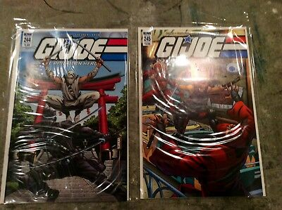 GI JOE Real American Hero #244 & #245 Both Cover A NM 1st Female Snake Eyes IDW