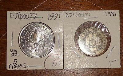 World Coin Inventory Clearance Djibouti (2) Coins!!!