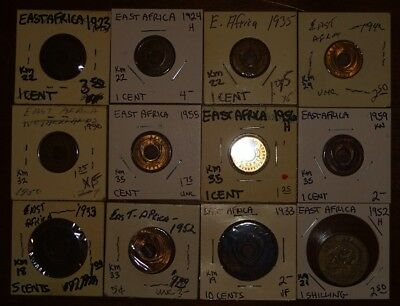 World Coin Inventory Clearance East Africa (12) Coins!!!