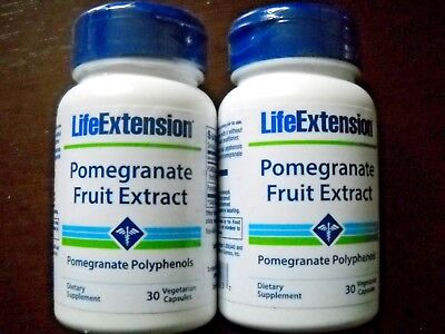 2 Bottles Life Extension Pomegranate Fruit Extract Heart Health NON GMO 30 Caps