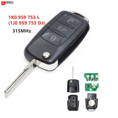 315MHZ  Car Remote Key for VW/VOLKSWAGEN Bora/Golf/Passat/Sharan 1J0 959 753 DJ