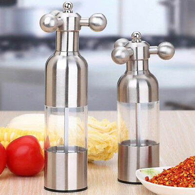 Salt and Pepper Grinder Set Adjustable Ceramic Mill Stainless Steel