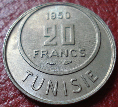 1950 Tunisia 20 Francs In Uncirculated Condition