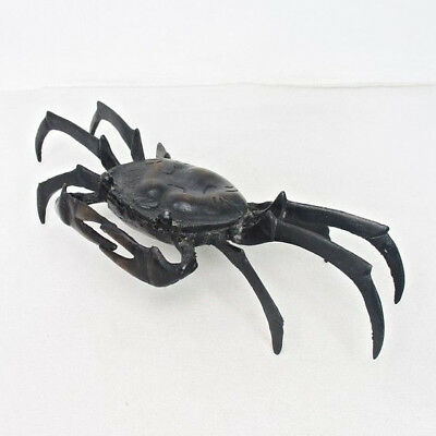 E165: Japanese crab statue of TAKAOKA copper ware with very good work