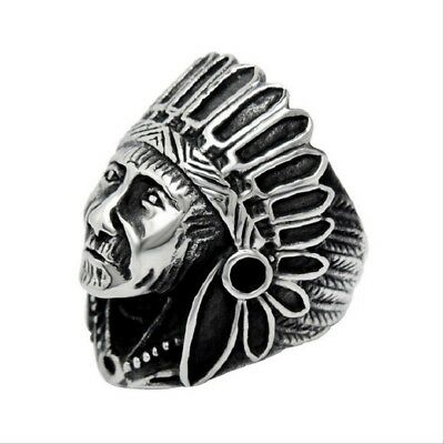 Men Silver Plated Personality Engagement Vintage Punk Cool Accessories Ring