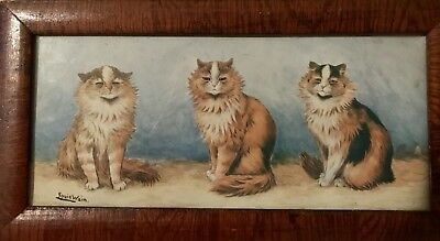 Louis Wain print Three Cats