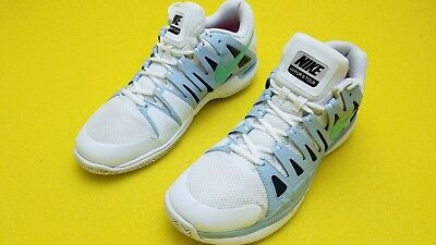 Nike zoom vapor 9 tour Roger White And Baby Blue Color  worn shoes size 9.5