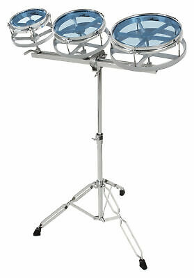 "Professional 6"", 8"", 10"" Rototom Set Drum Kit Tom Percussion Double Braced Stand"