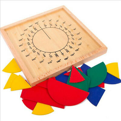Baby Toys Circular Mathematics Fraction Division Teaching Montessori Board 6A