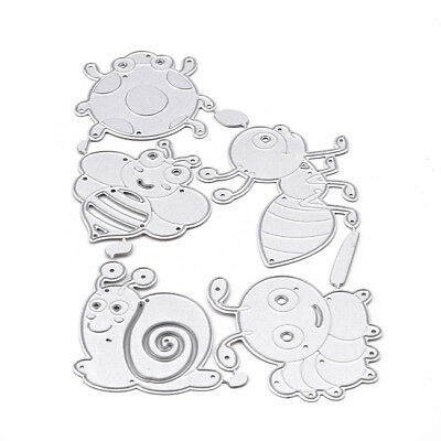 Insect Metal Cutting Dies Stencil Scrapbook Card Album Paper Embossing Craft 6A