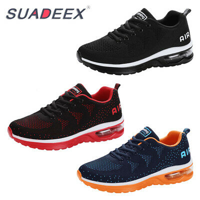 SUADEEX Mens Sneakers Athletic Shoes Comfortable Lace Up Air Running Sport Shoes