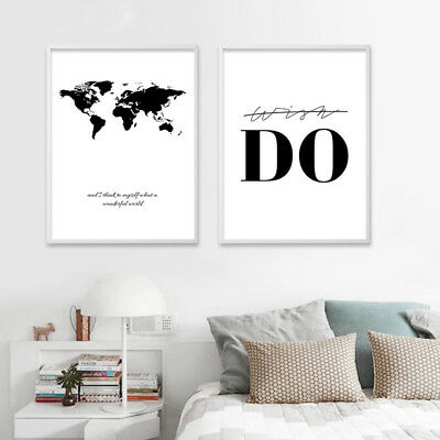 Black White Nordic Canvas Poster Motivational Minimalist Quote Wall Art Prints