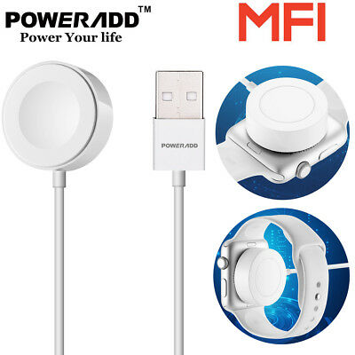 Poweradd 1M Magnetic Charger Charging Cable For Apple Watch iWatch 38mm & 42mm