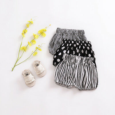 Baby Girl Boy Cotton Shorts Striped Spoted PP Pants Nappy Covers Cute Bloomers