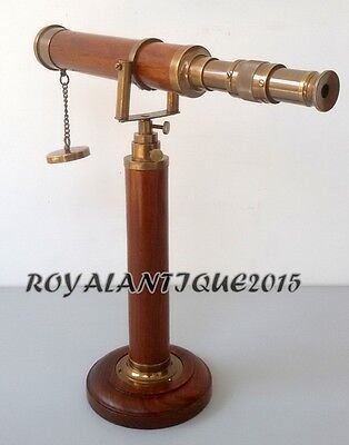 Vintage Antique Style Tripod BRASS COLLECTIBLE TELESCOPE WITH BEAUTIFUL STAND