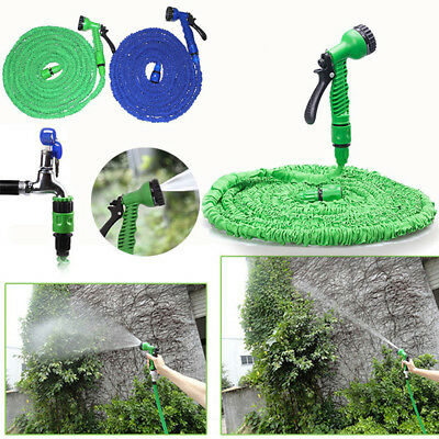 25/50/75/100/200ft Expandable Flexible Garden Hose Pipe 3x Expanding&Spray Gun