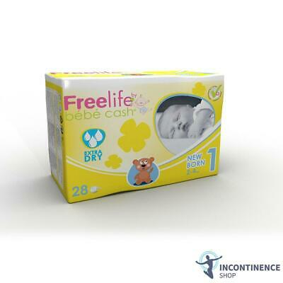 6x Freelife BébéCash Baby Nappies Pack of 32 Premature