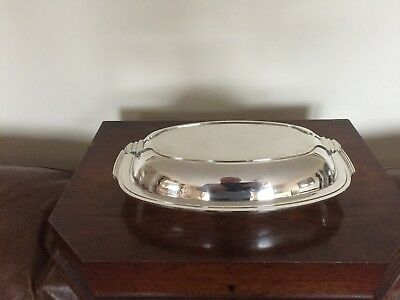 Lovely 2 Handled Deco Silver Plated Oval Shaped Lidded Entree Dish (Sped 31D)