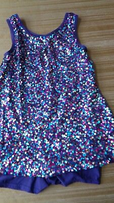 Girls Dance Costume - Weissman - Purple  w/sequins - Unitard - Size: Child XL