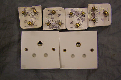 MK brand 15A round pin sockets (2) & Marbo 15A round pin plugs (4)