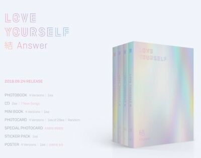 BangtanBoys BTS LOVE YOURSELF 結 Answer CD+Photobook+Photocard+StickerPack+Poster