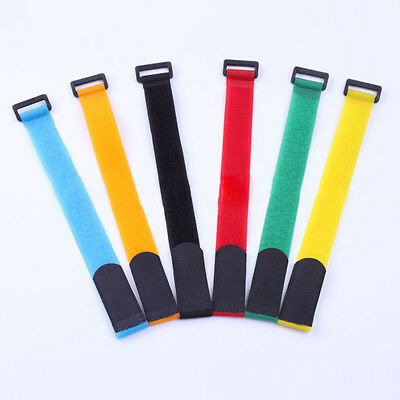 10x Fishing Rod Tie Strap Belt Tackle Elastic Wrap Band Pole Holder Accessories