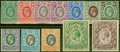 Somaliland 1912-19 set of 12 to 2R SG60-70 Mtd Mint