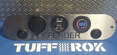Land rover Defender V8 90 110 130 ST/STL 2 x USB socket 2X Switch12V Panel dash