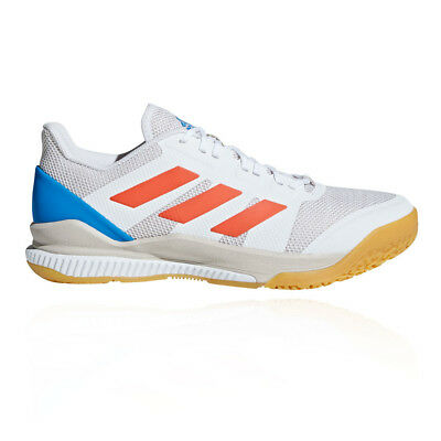 new product 0acaa d56fa adidas Mens Stabil Bounce Court Shoes White Sports Handball Breathable  Trainers