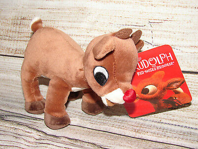 Rudolph The Red Nose Reindeer Plush Christmas Soft Toy Movie Stuffed Animal  NEW