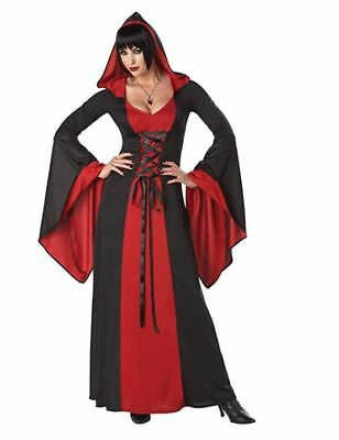 NEW Adult California Costume Deluxe Hooded Robe Halloween Costume Size M Witch