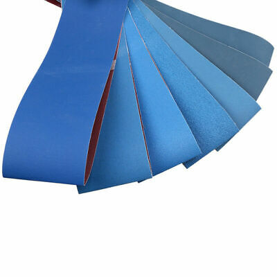"UK 4"" x 36"" Blue Sanding Belts Sander Tools for Grinding Polishing 80-1000 Grit"