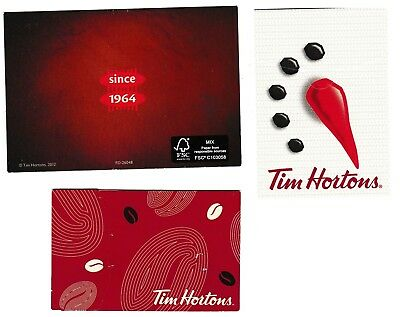 3 collectible rare TIM HORTONS 2012 2015 2016 gift cards' Envelopes Covers