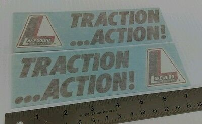 Lakewood Traction Action Decals Stickers Grumpy's Toy NHRA Gasser Racing Decals
