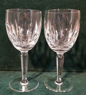 """2 Waterford KILDARE 7"""" Water Goblets M67"""