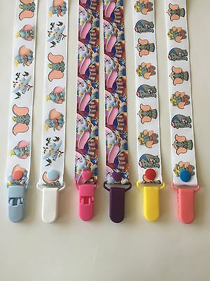 Handmade Pacifier Holder - Disney Lion King, Dumbo, Bambi, Zootopia