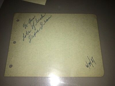 DIXIE DEAN Autograph - Signed Note Dated 1937 (Prob Not Everton Legend)
