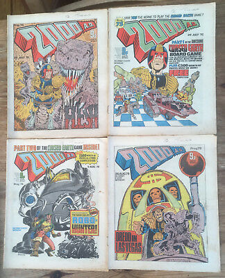 13 X Early 2000AD Progs 74 , 75 ,76 , 79, 80, 81, 83, 85 ,87,88, 90 , 91 & 92