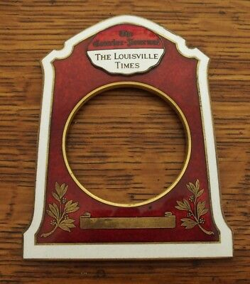 Antique Brass & Enamel Clock Face or Case The Louisville Times Courier-Journal